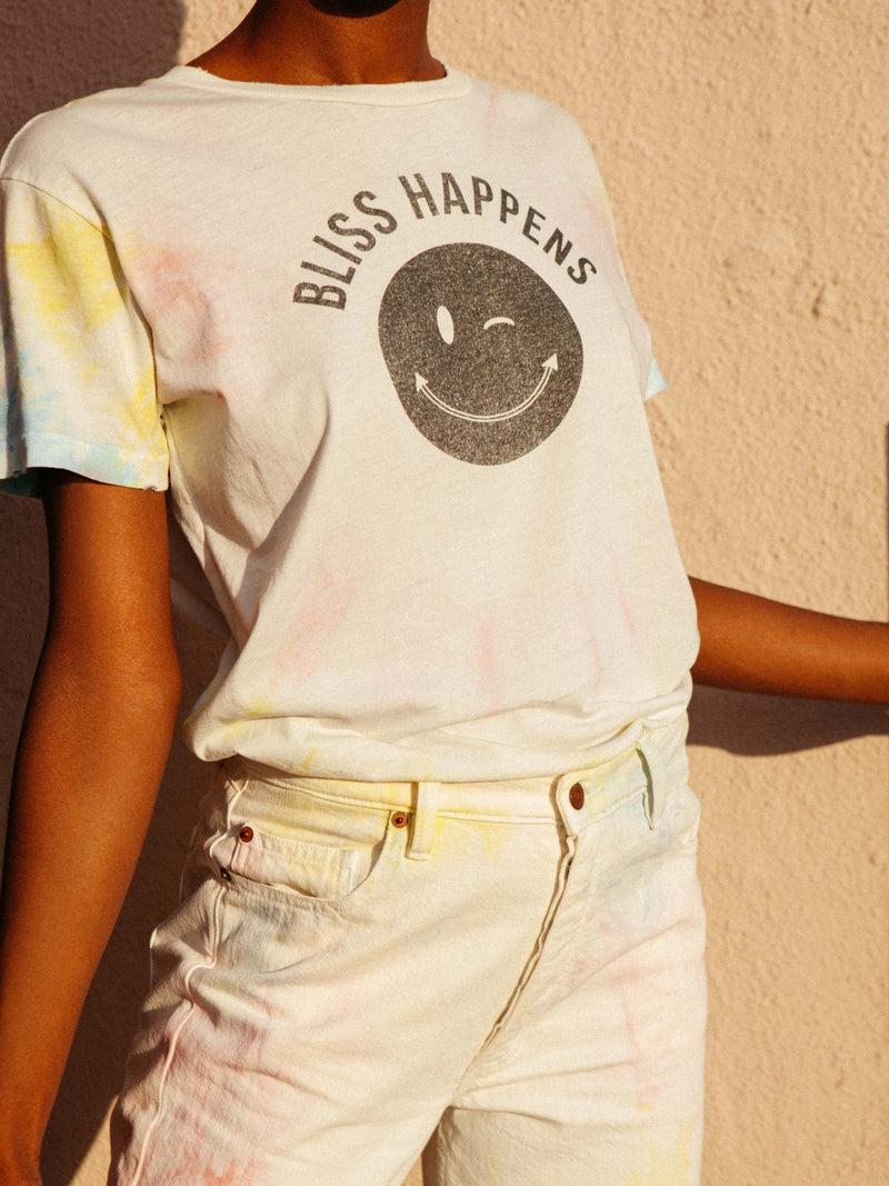 Bliss And Mischief - 'Bliss Happens' Tie Dye Tee