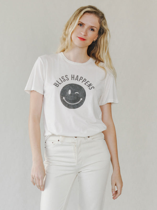 Bliss And Mischief 'Bliss Happens' Destroyed Tee