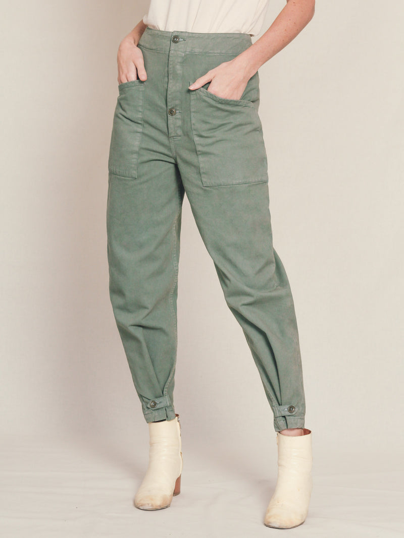 Artist Tab Pants in Army Green - Bliss And Mischief