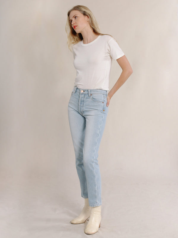 Bliss And Mischief Collector Fit Denim in Light Wash