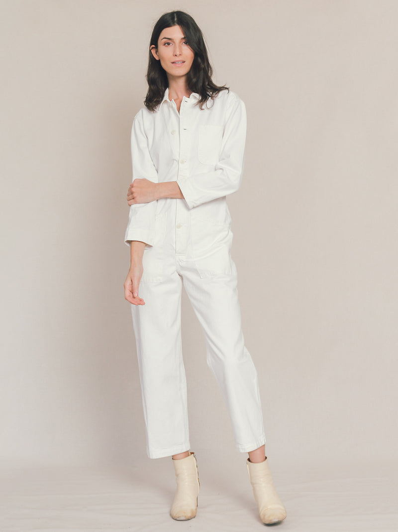 Long Flight Suit in Ivory