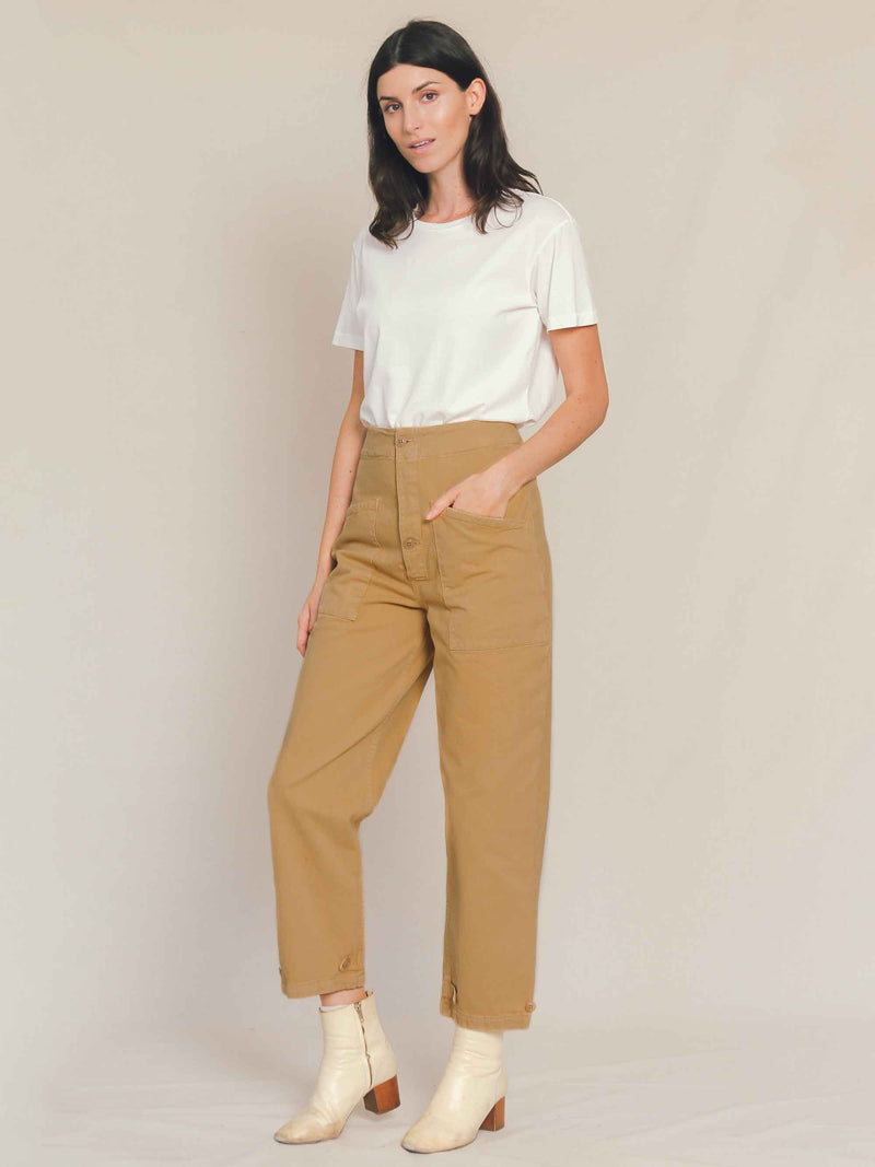 Artist Tab Pants in Khaki - Bliss And Mischief