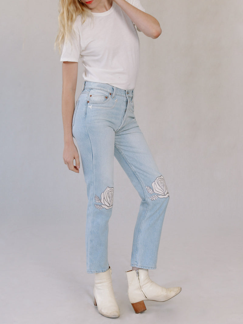 Song of the West Denim in Ivory - Bliss And Mischief