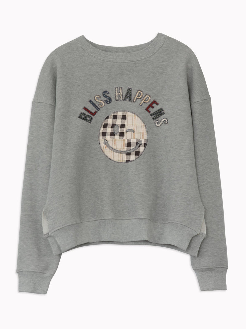 Bliss And Mischief - Patchwork Bliss Happens Sweatshirt