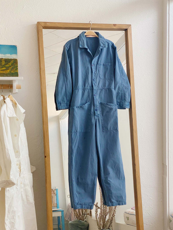 Bliss And Mischief-Long Flight Suit in Vintage Blue