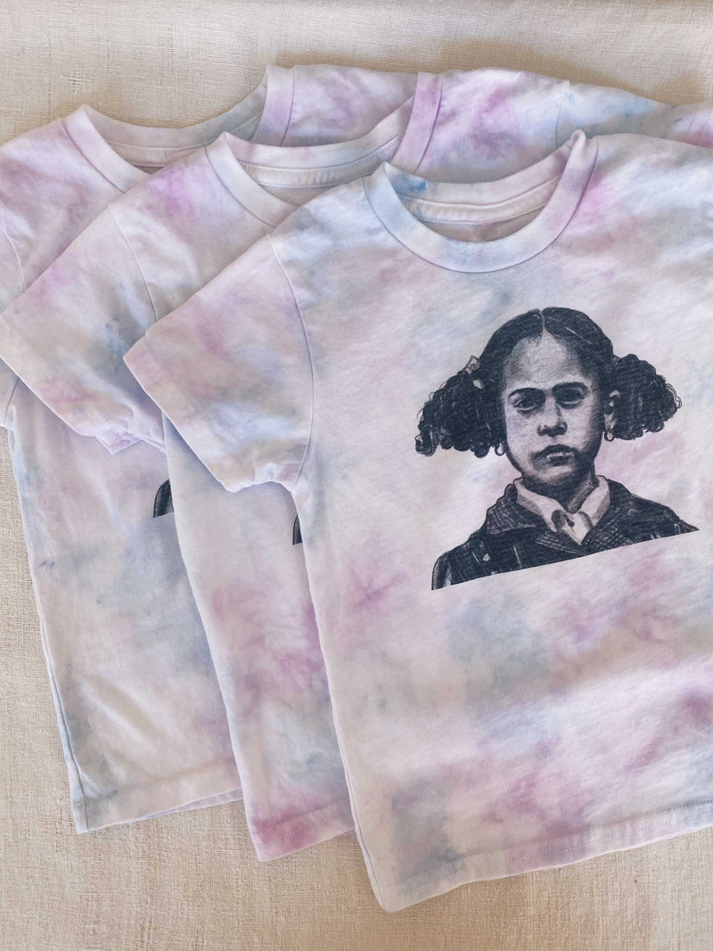Bliss And Mischief-Kamala Kids Tee in Lilac Sky Tie Dye