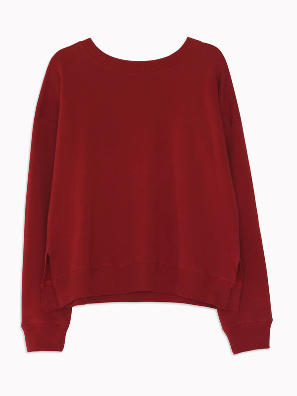 Studio Sweatshirt in Raspberry