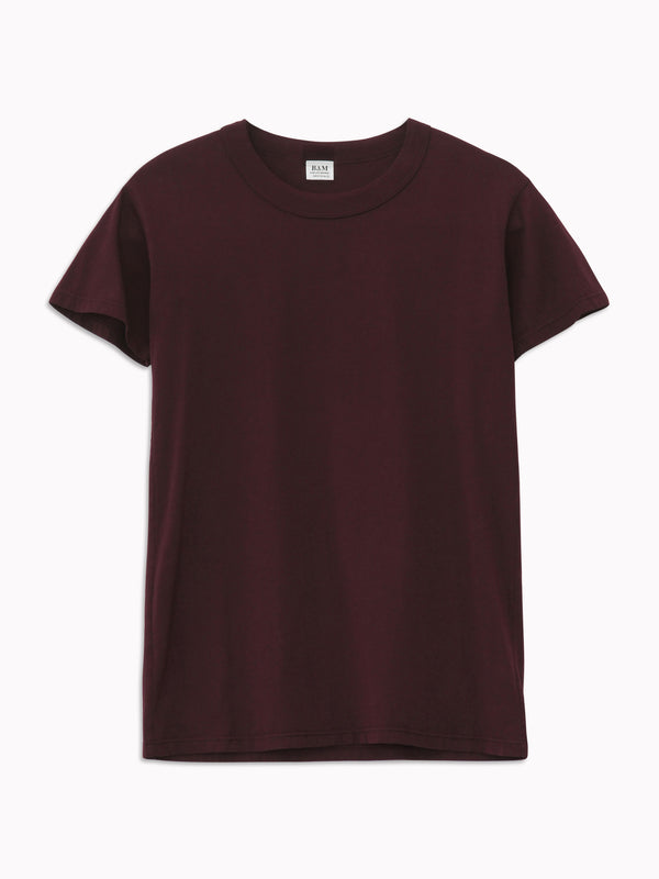 Solid Slim Tee in Bordeaux