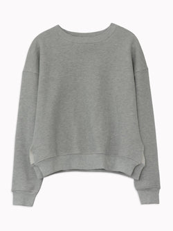 Studio Sweatshirt in Heather Grey - Bliss And Mischief