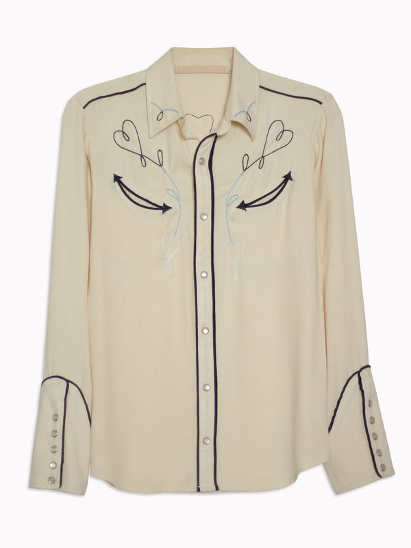 Sweetheart Embroidered Western Shirt