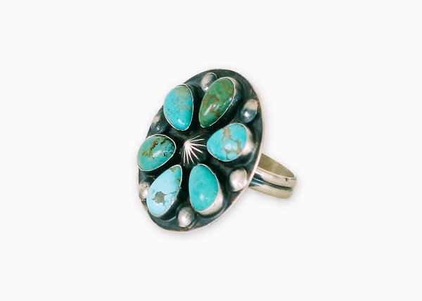 Gypsy Hunter Blooming Turquoise Ring