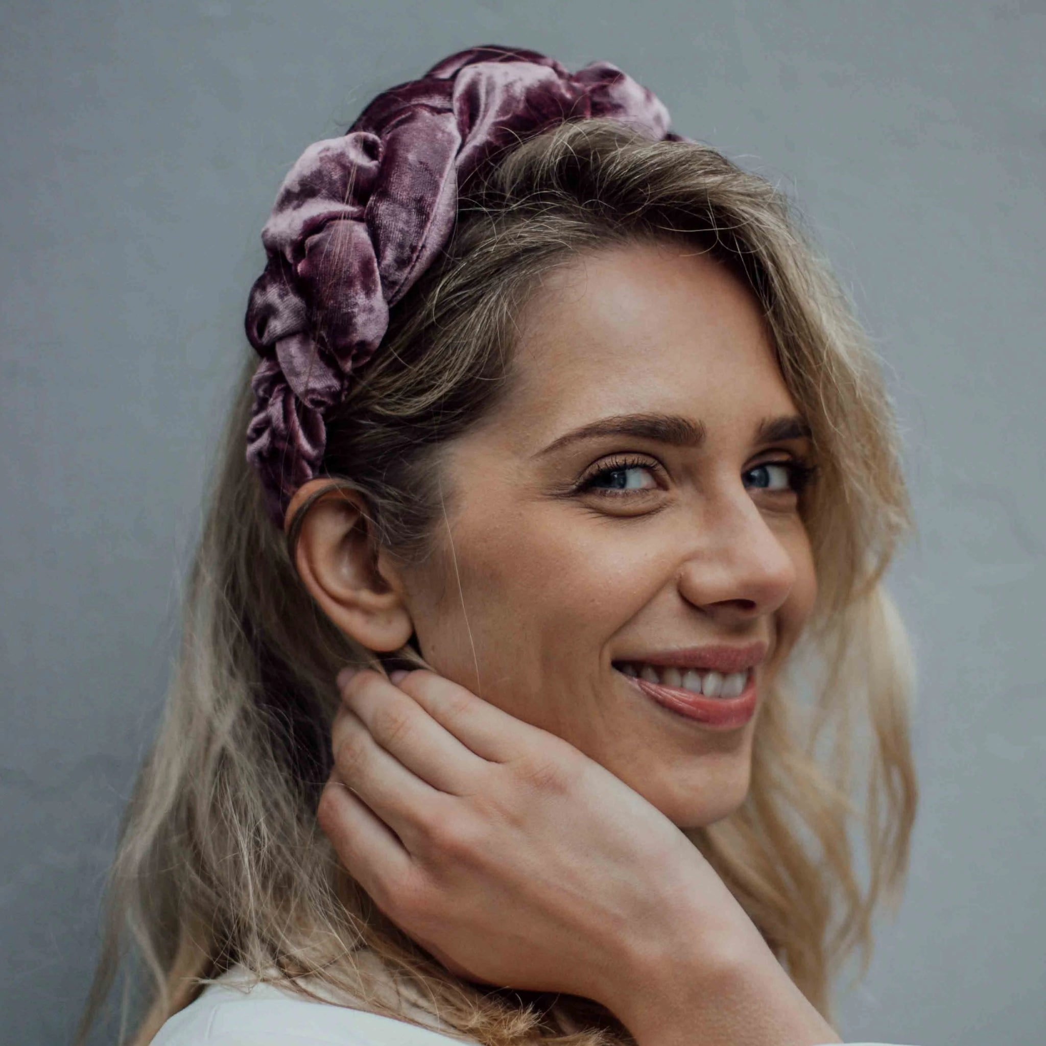 NINA headband in diverse purple/pink