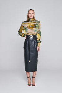 Eco leather skirt
