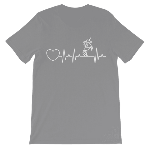 Unicorn Heartbeat Kids T-Shirt Classic
