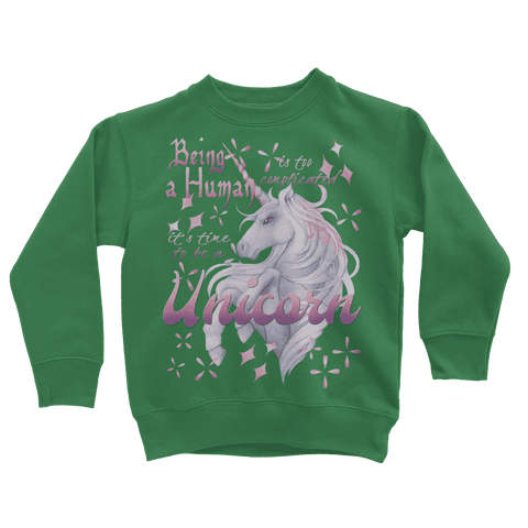 Image of Time to be a Unicorn Kids Sweatshirt