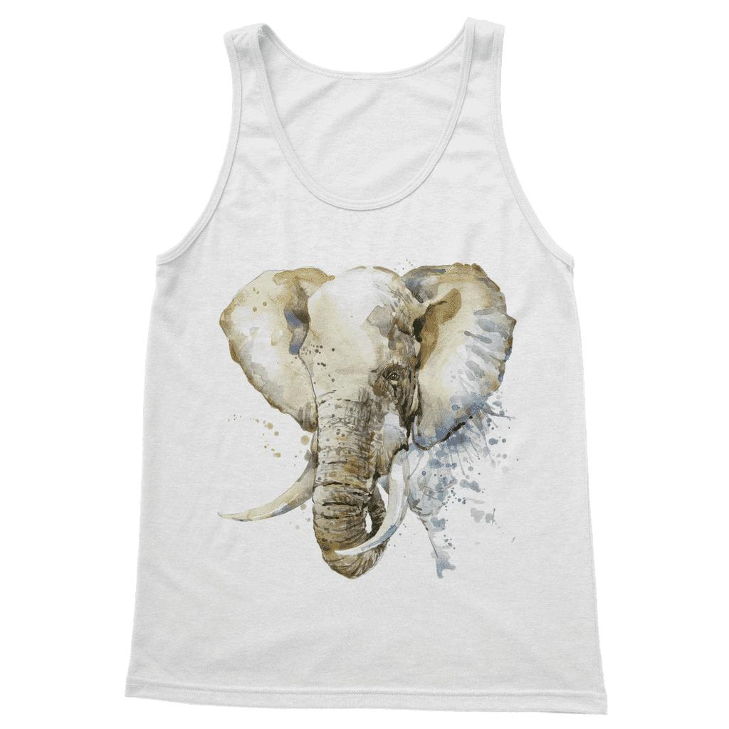 African Elephant Painting Vest Top