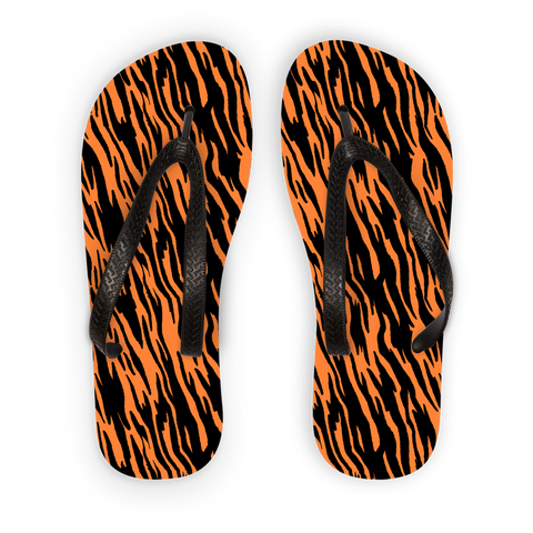Wild Tiger Stripes Adult Flip Flops