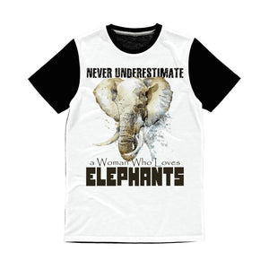 Never Underestimate Elephant T-Shirt Classic Sublimation Panel