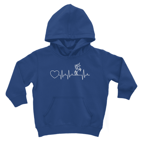 Image of Unicorn Heartbeat Kids Hoodie