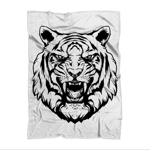 Fierce Tiger Blanket Sublimation