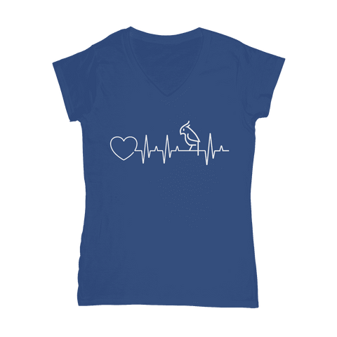 Image of Parrot Heartbeat  Women's V-Neck T-Shirt Classic