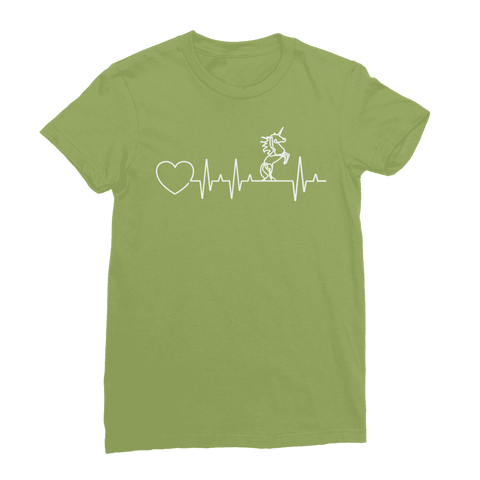 Unicorn Heartbeat Women's T-Shirt Classic