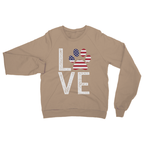 USA Love Paw Sweatshirt