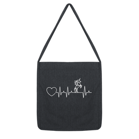 Unicorn Heartbeat Tote Bag