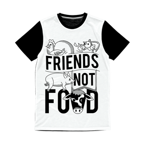 Friends Not Food Animals T-Shirt Classic Sublimation Panel