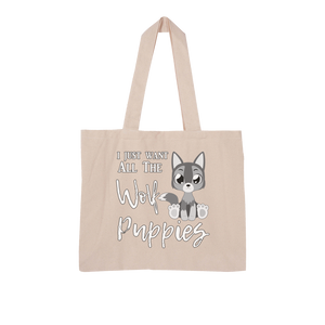I Just Want Wolf Puppies Large Organic Tote Bag