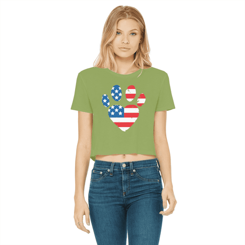USA Paw Women's Cropped T-Shirt