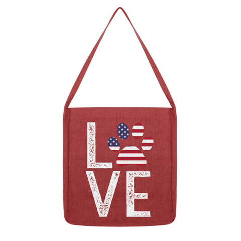 USA Love Paw Tote Bag
