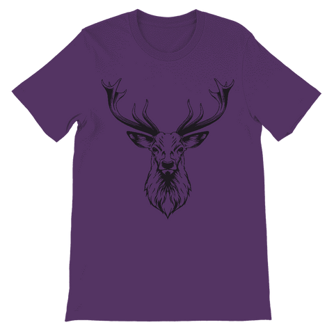 Reindeer with Antlers Kids T-Shirt Classic