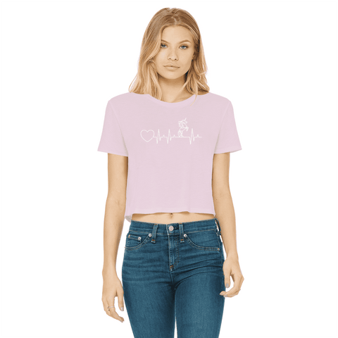 Unicorn Heartbeat Women's Cropped T-Shirt
