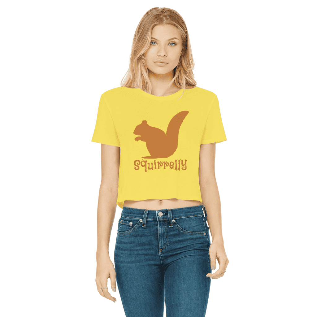 Squirrelly Squirrel Women's Cropped T-Shirt