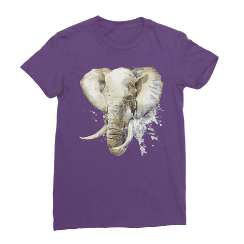 Image of African Elephant Painting Women's T-Shirt Classic