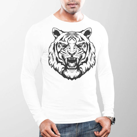 Image of Fierce Tiger Long Sleeve T-Shirt Classic