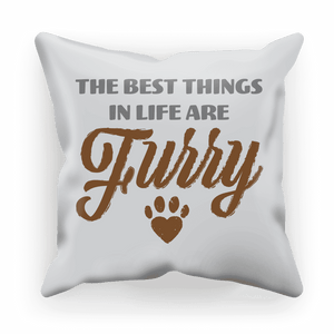 Best Things Are Furry Cushion Cover