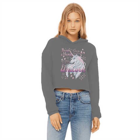 Time to be a Unicorn Women's Cropped Hoodie