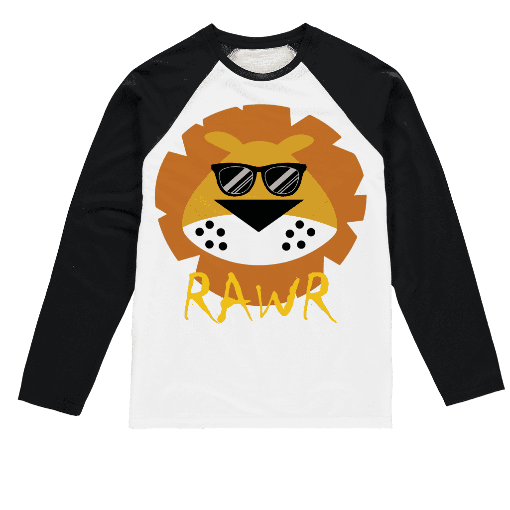 Lion RAWR Sublimation Baseball Long Sleeve T-Shirt