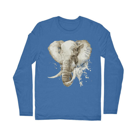 African Elephant Painting Long Sleeve T-Shirt Classic