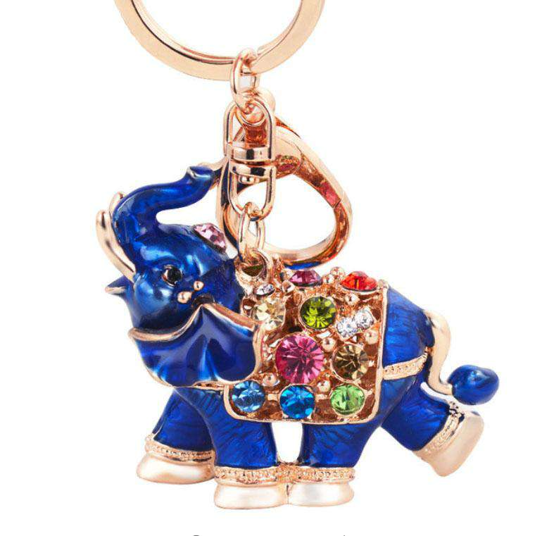 Royal Elephant Crystal Keychain - Green Earth Animals