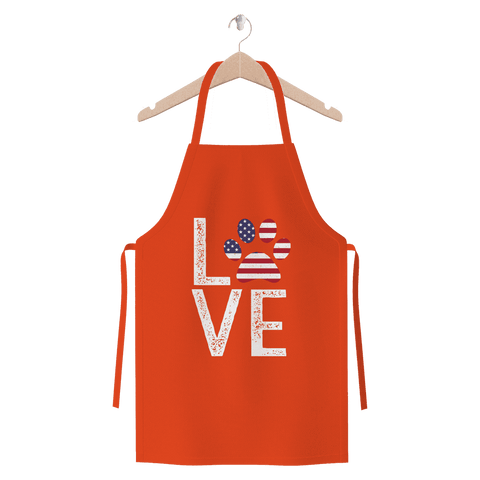 Image of USA Love Paw Apron Premium Jersey