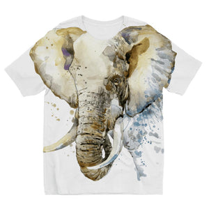 African Elephant Painting Kids T-Shirt Sublimation
