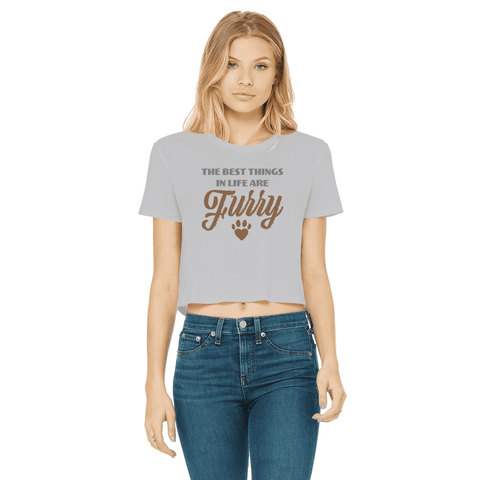 Best Things Are Furry Women's Cropped T-Shirt