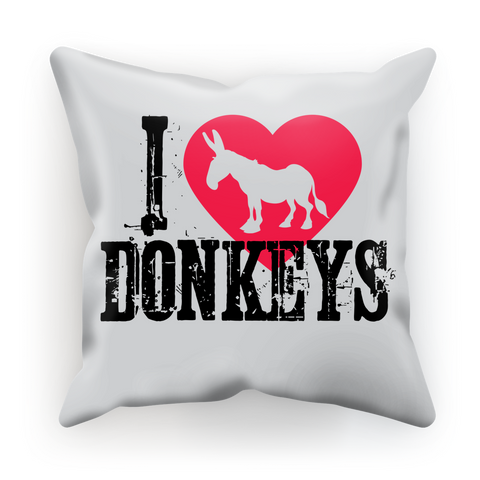I Love Donkeys Cushion Cover