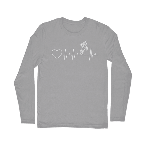Unicorn Heartbeat Long Sleeve T-Shirt Classic
