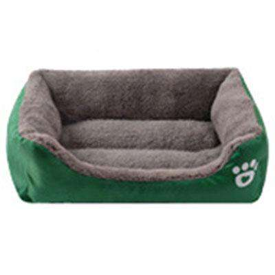 Solid Color Soft Cotton Dog Bed - Green Earth Animals