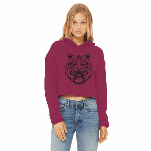 Fierce Tiger Women's Cropped Hoodie