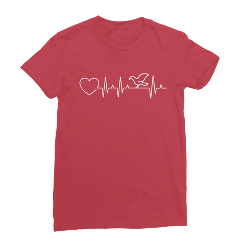 Image of Bird Heartbeat Women's T-Shirt Classic